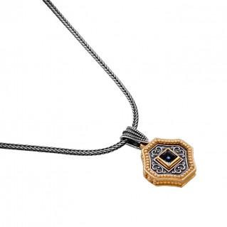 M256 ~ Sterling Silver and Swarovski - Medieval Byzantine Pendant Necklace