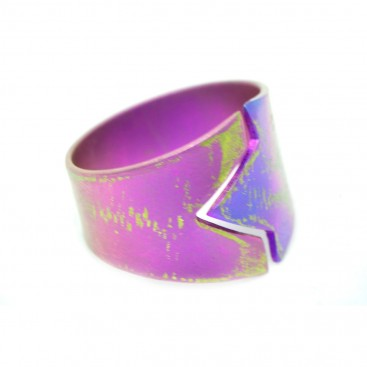 Giampouras 5157 ~ Anodized Colored Titanium Band Ring