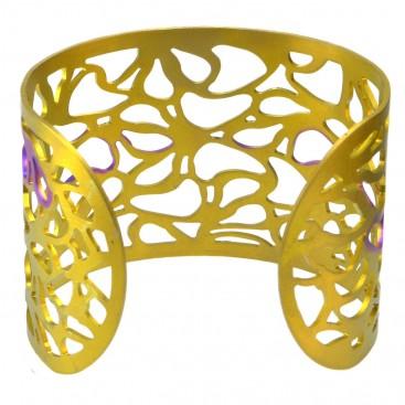 Giampouras 5300 - Anodized Titanium Large Cuff Lace Bracelet