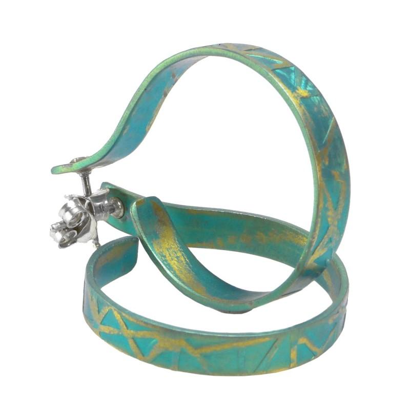 Open Hoop Earrings Anodized Anium
