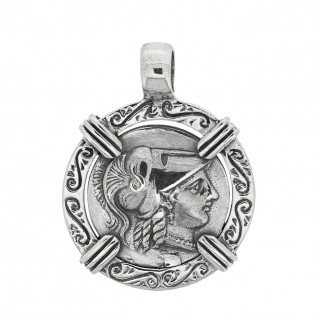 Athena & Nike Stater ~ Savati 274 ~ Sterling Silver Coin Pendant