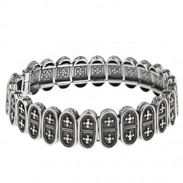 Savati 284 ~ Sterling Silver Byzantine Soft Bangle Bracelet