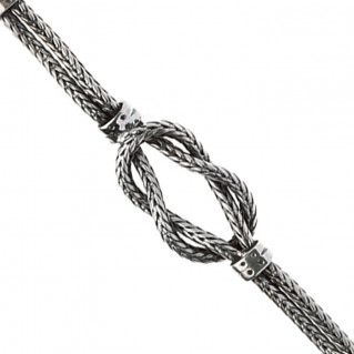 Savati 291 ~ Hercules Knot ~ Sterling Silver Chain Bracelet