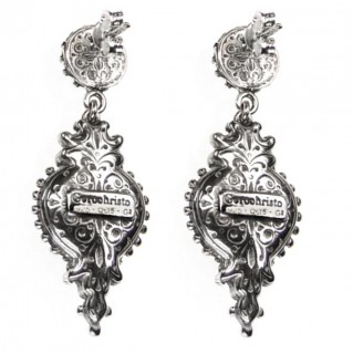 Gerochristo 1545N ~ Sterling Silver Medieval-Byzantine Ornate Dangle Earrings