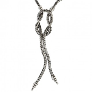 Hercules Knot ~ Sterling Silver Chain Necklace - Savati 302
