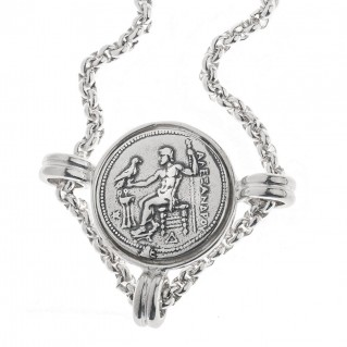 Alexander the Great ~ Sterling Silver Coin Necklace