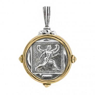 Peparethus Tetradrachm ~ Sterling Silver and Bronze Coin Pendant ~ Savati 304