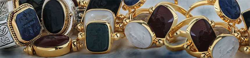 intaglio seal stone jewelry at culturetaste