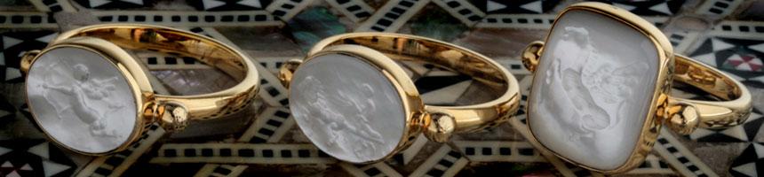 intaglio seal stone rings culturetaste