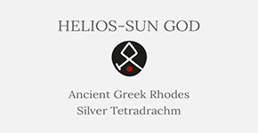 Helios-Sun God - Ancient Greek Rhodes Silver Tetradrachm - Short History at CultureTaste