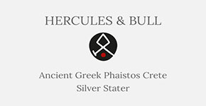 Phaistos Crete Silver Stater - Hercules and Bull - Short History at CultureTaste