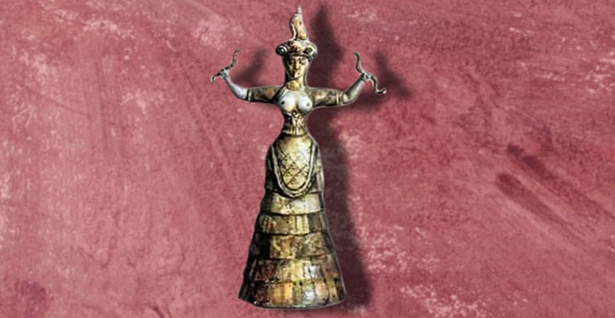 Minoan Goddess with Snakes - History & Meaning